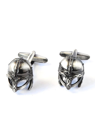 Antique Viking Battle Helmet Cufflinks