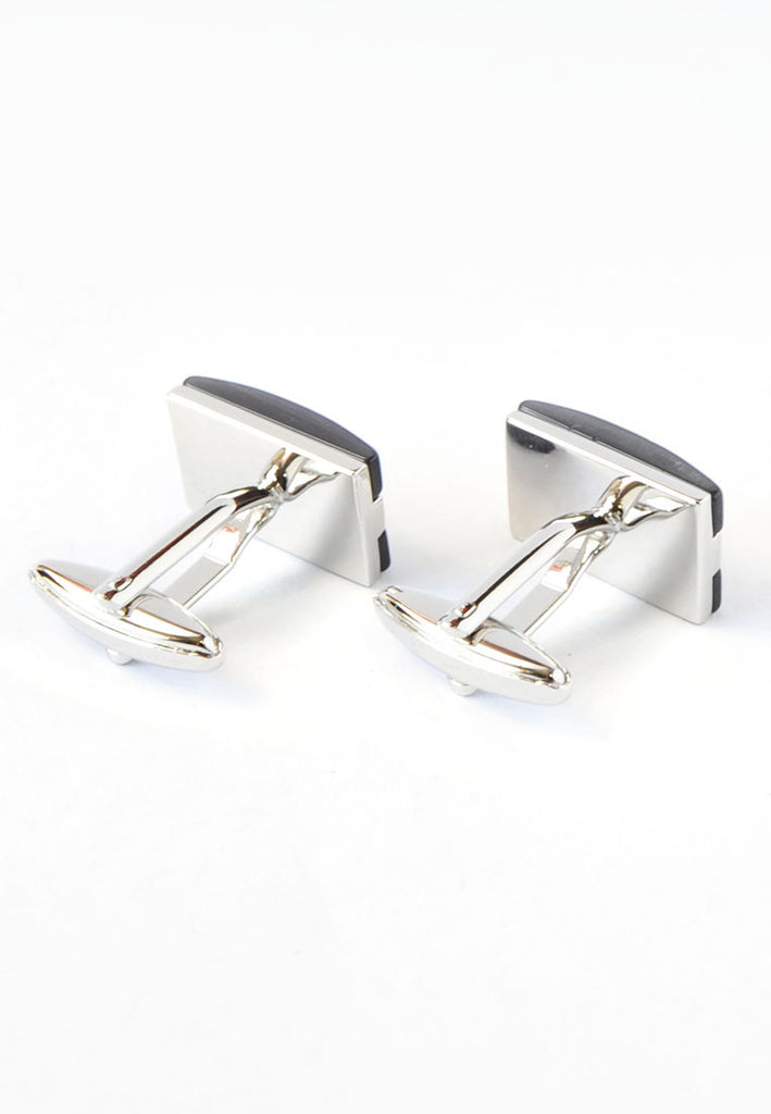 Black Curved Cufflinks