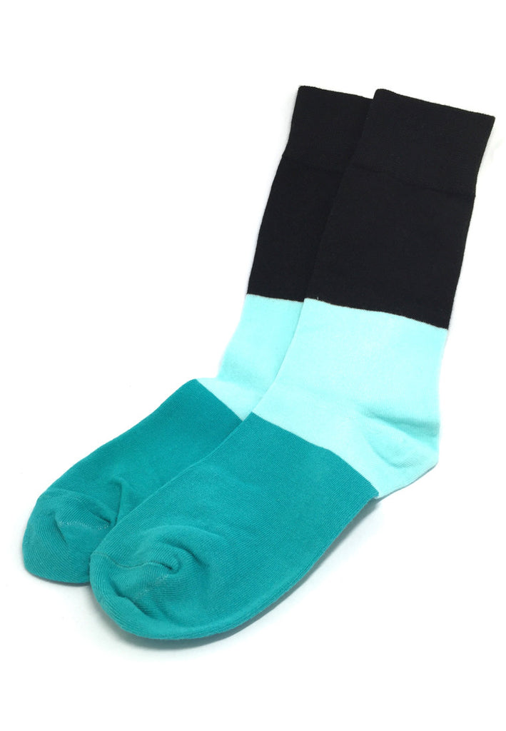 Zone Series Green, Baby Blue and Black Socks
