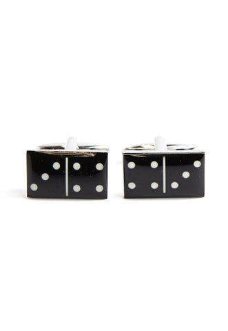 Black Domino Game Cufflinks