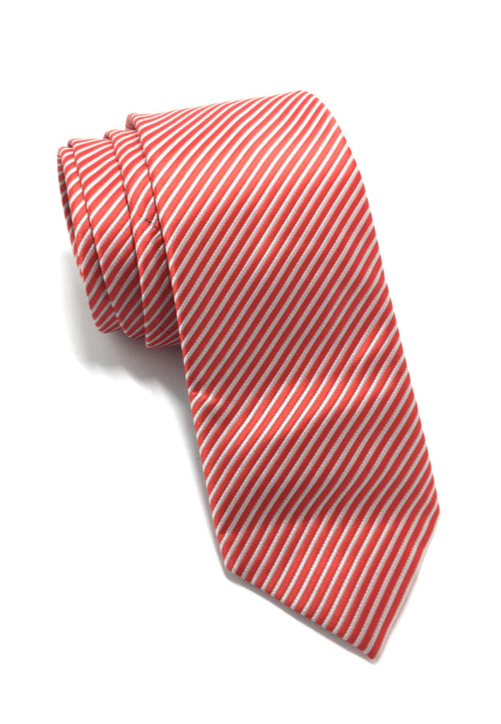 Regalia Series Red Stripes Polyester Fabric Tie
