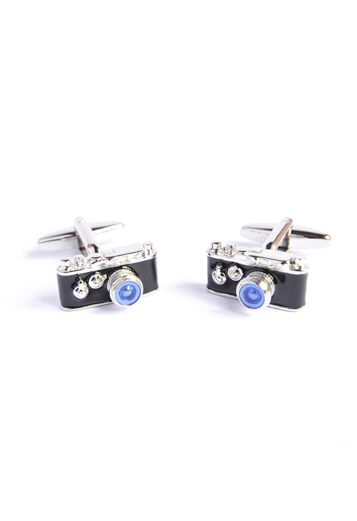 Retro 35mm Camera with blue tint lens Cufflinks