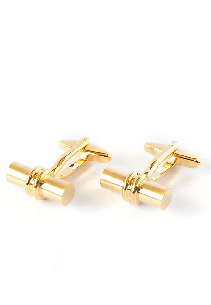 Cylindrical Golden Classic Cufflinks