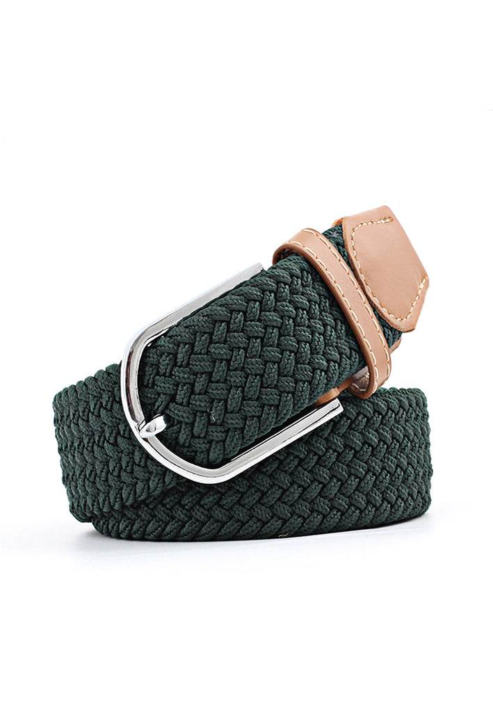 Entwine Series Dark Green Braided Belts