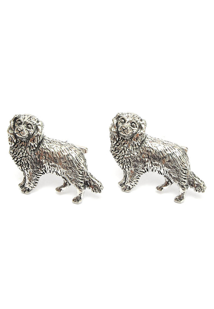 English Made Spaniels Pewter Cufflinks