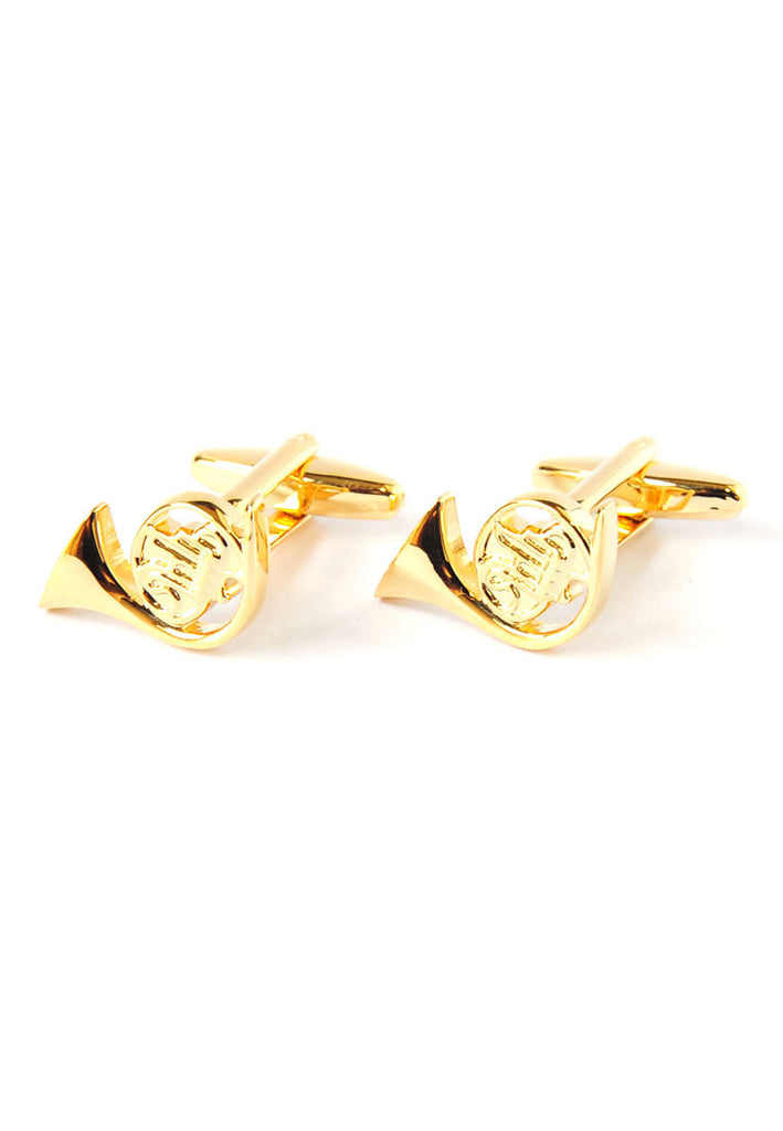 French Horn Music Instrument Cufflinks
