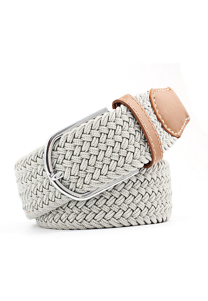 Entwine Series Whitish Grey Braided Belts