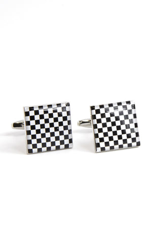 Chequer Pattern Cufflinks