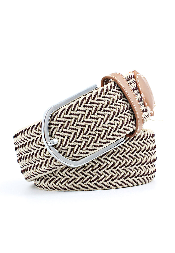 Entwine Series Brown & White Braided Belts