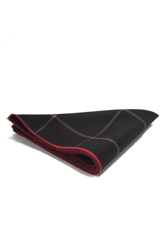 Folio Series Black Checked Viscose Pocket Square