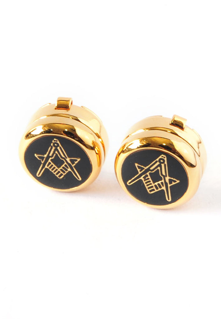 Gold Plated Plain Masonic Design Cuff