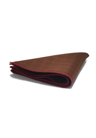 Folio Series Brown Viscose Pocket Square