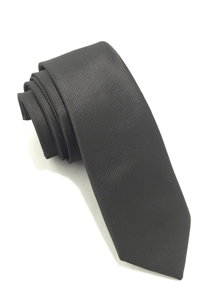 Palpable Series Black Polyester Fabric Tie