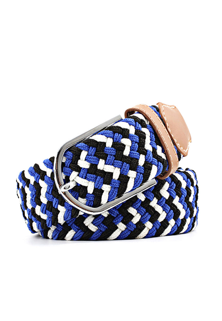 Entwine Series Blue, Black & White Braided Belts