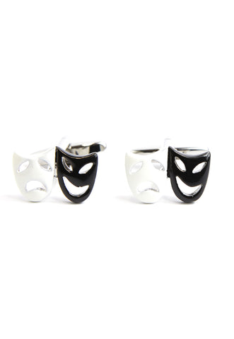 Black & White Theatre Masks Cufflinks