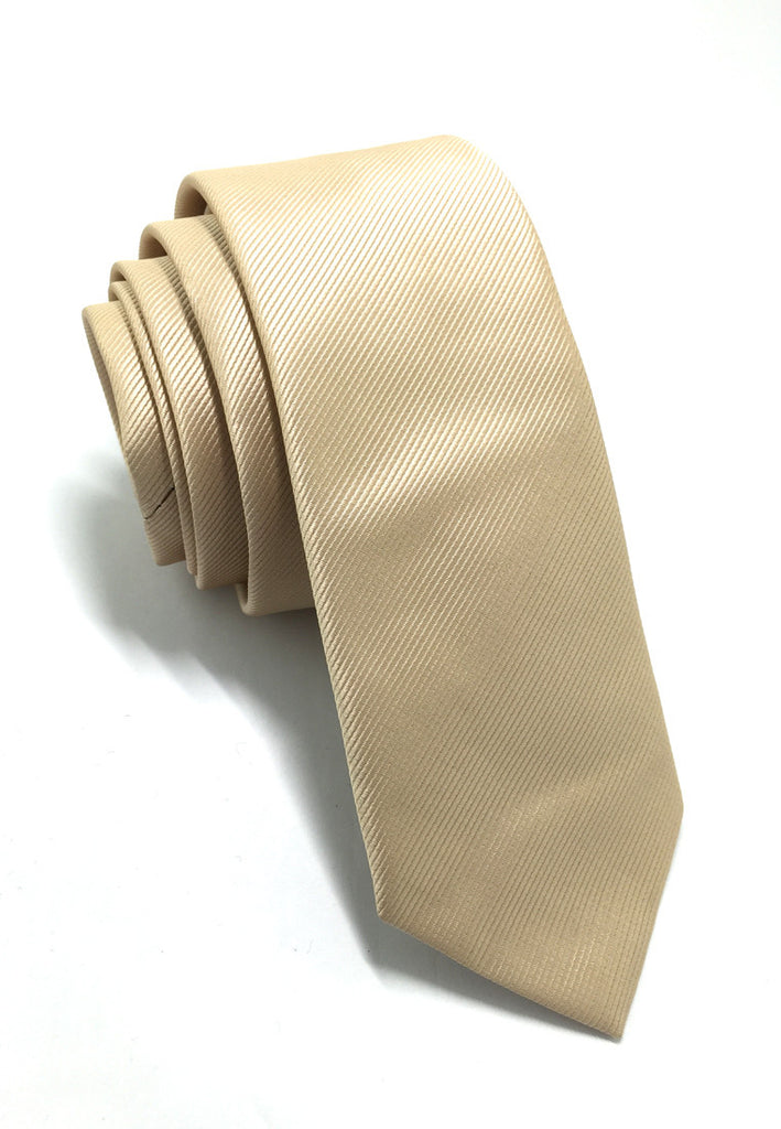 Palpable Series Gold Polyester Fabric Tie