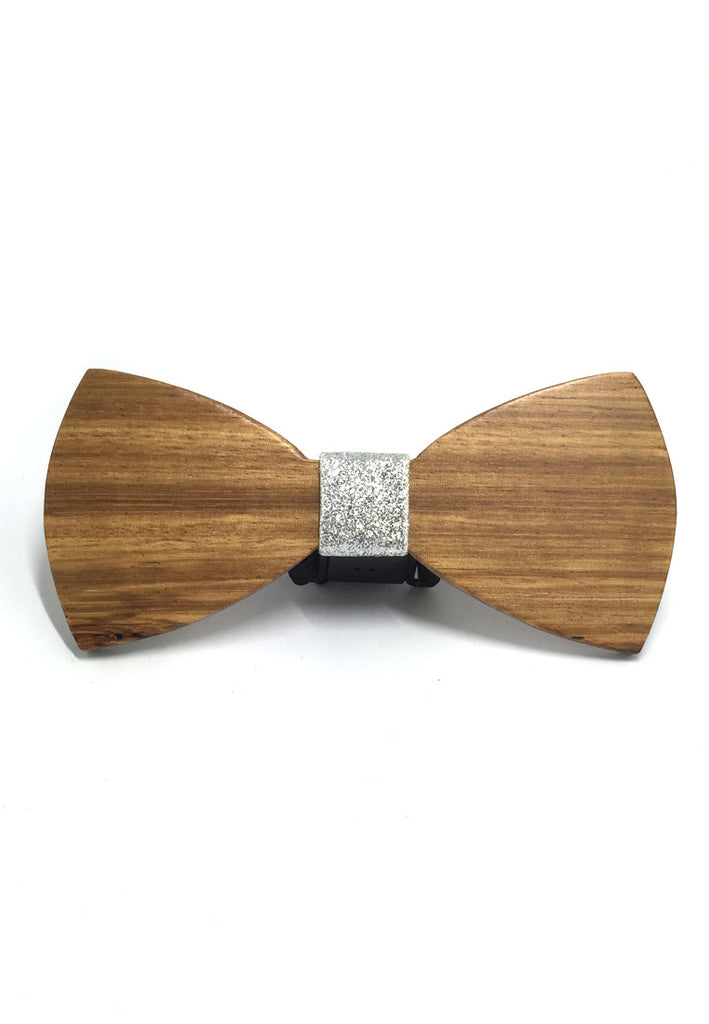Grove Series Plain Wood Bow Tie