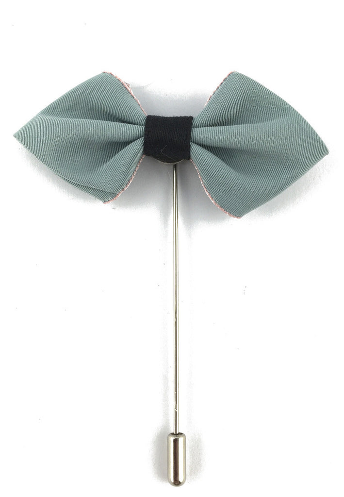Cerulean Fabric Cloth Bow Lapel Pin