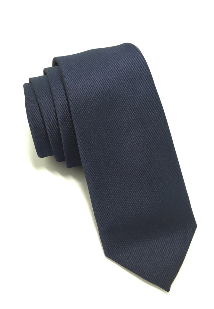 Palpable Series Navy Blue Polyester Fabric Tie