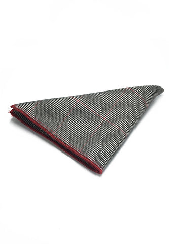 Folio Series Silver Patterned Viscose Pocket Square