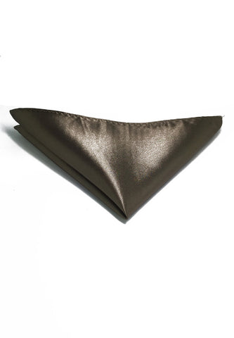 Lustrous Series Bronze Polyester Pocket Square