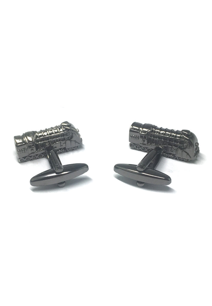Gunmetal Retro Locomotive Train Cufflinks