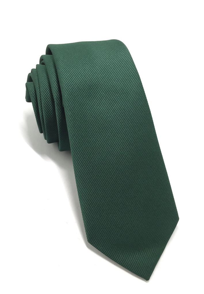 Palpable Series Green Polyester Fabric Tie