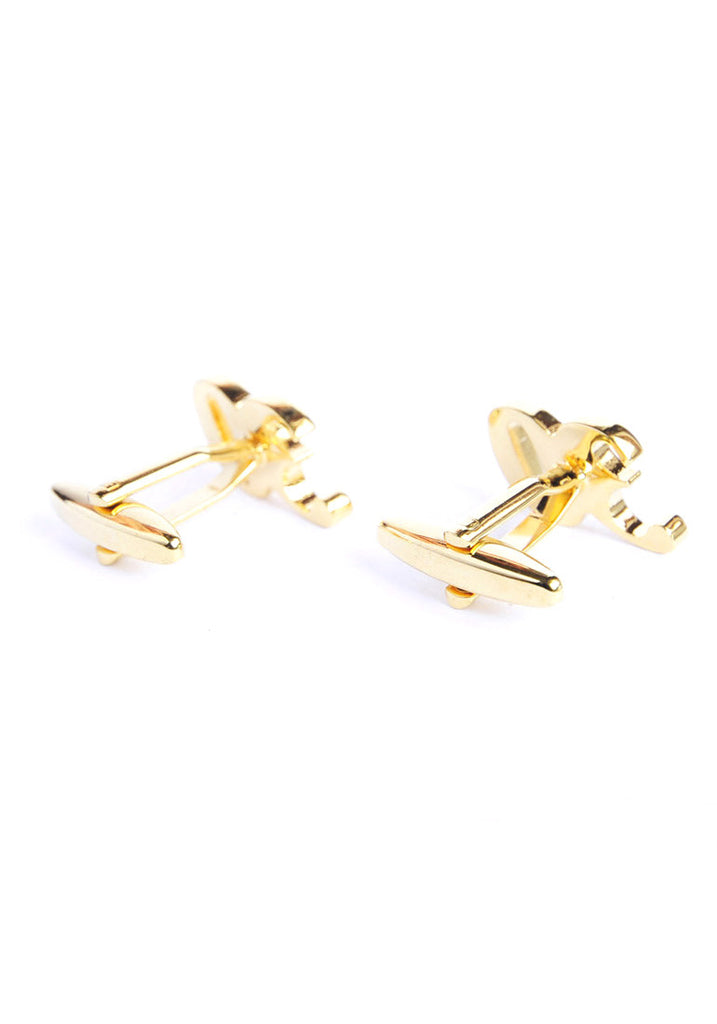 Gold Plated 30 Cufflinks with Crystal Decoration