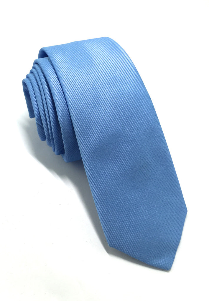 Palpable Series Blue Polyester Fabric Tie