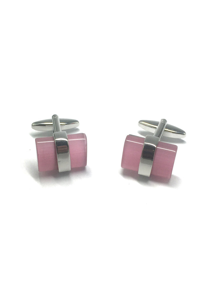 Pink Acrylic Bar Cufflinks