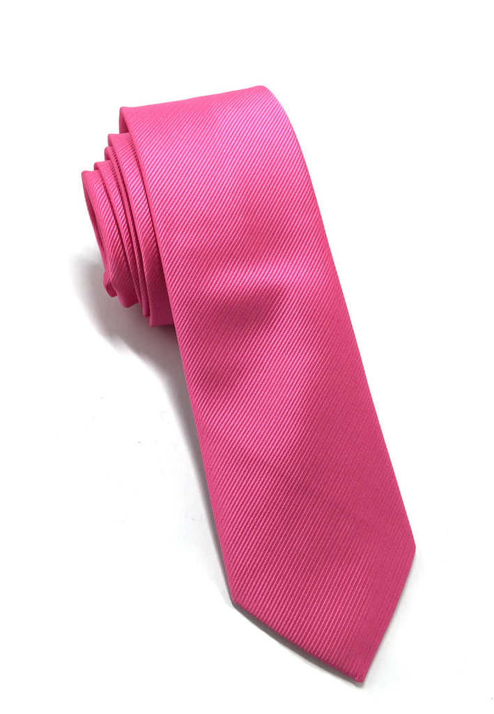 Palpable Series Bright Pink Polyester Fabric Tie
