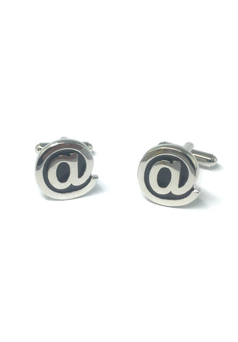 At Sign Cufflinks
