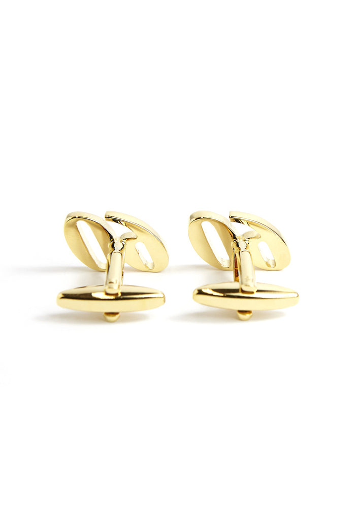 Gold Plated 60 Cufflinks with Crystal Decoration
