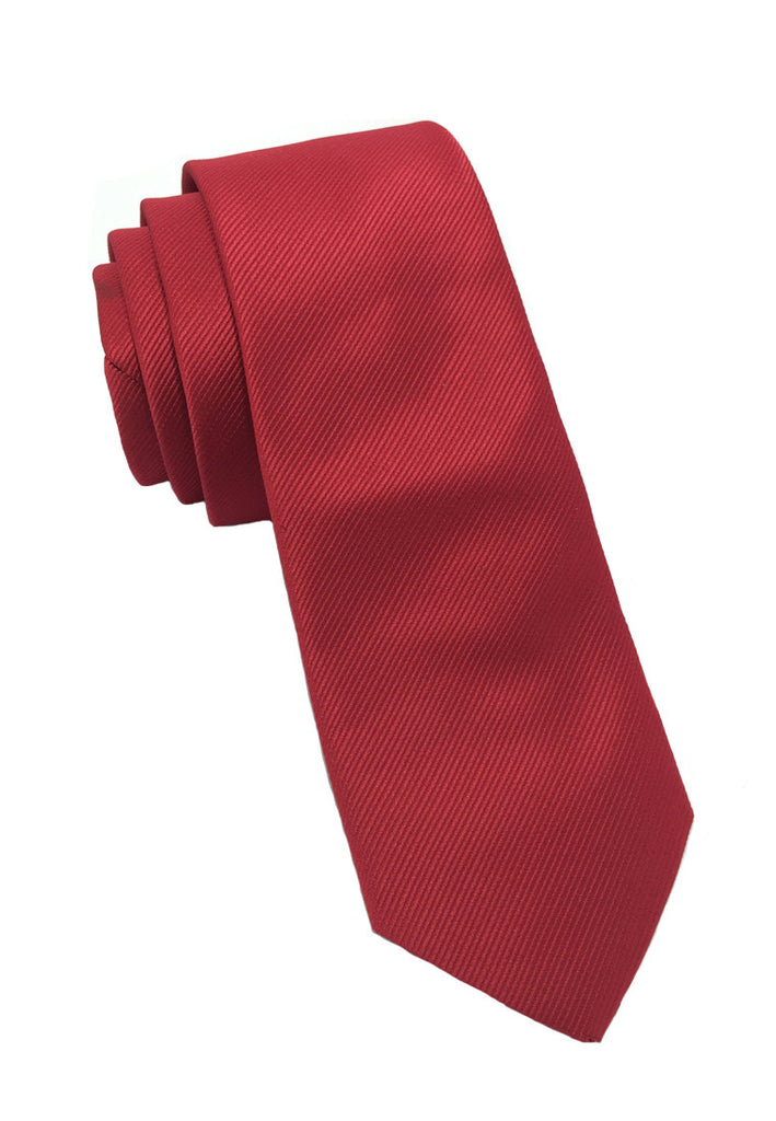 Palpable Series Red Polyester Fabric Tie
