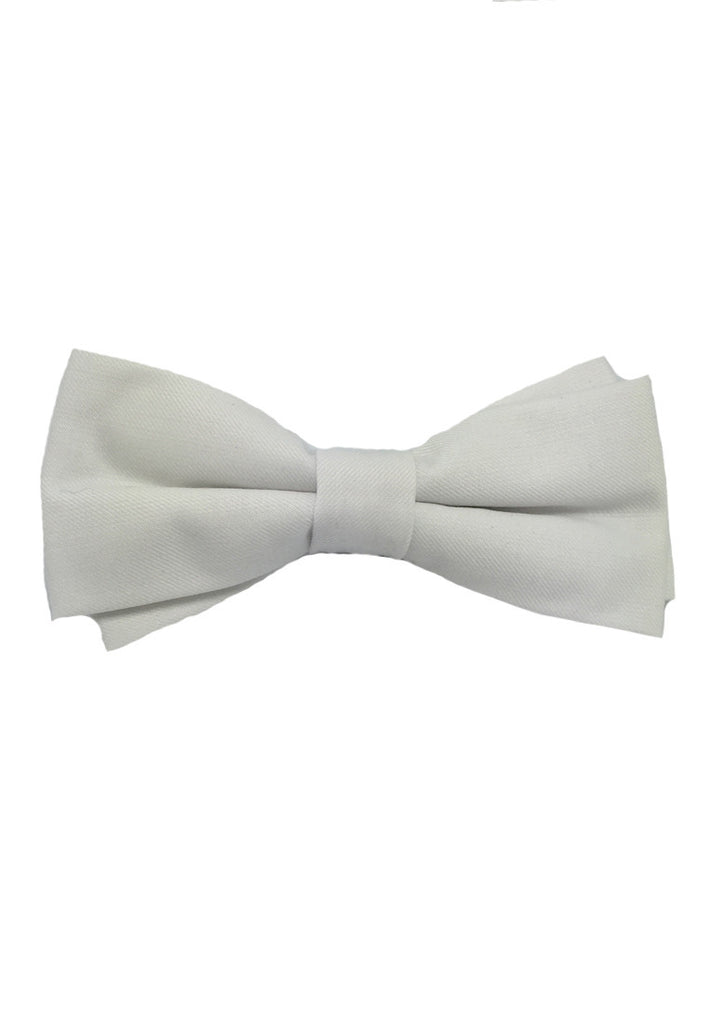Lucid Series White Polyester Fabric Bow Tie