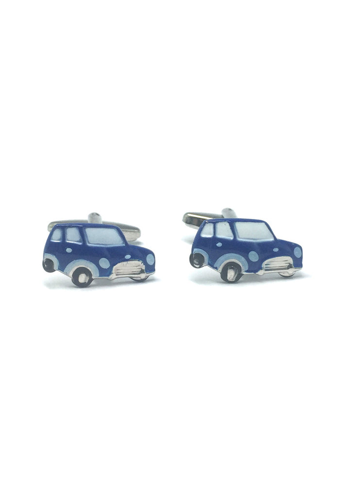 Blue Cute Car Cufflinks