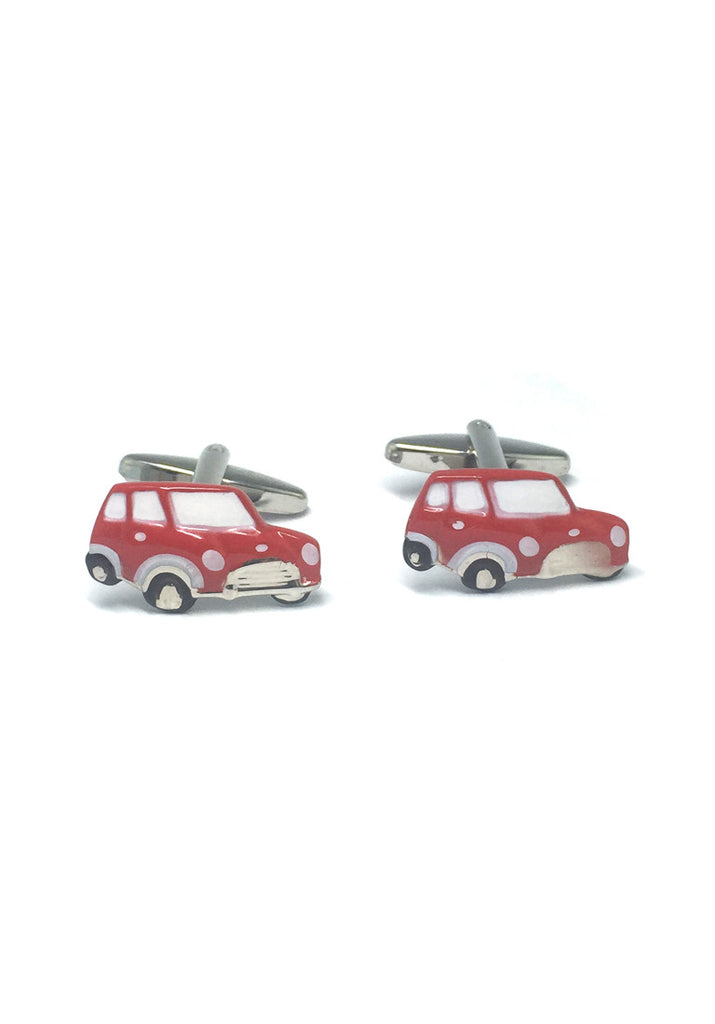 Red Cute Car Cufflinks