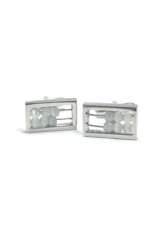 White Abacus Board Cufflinks