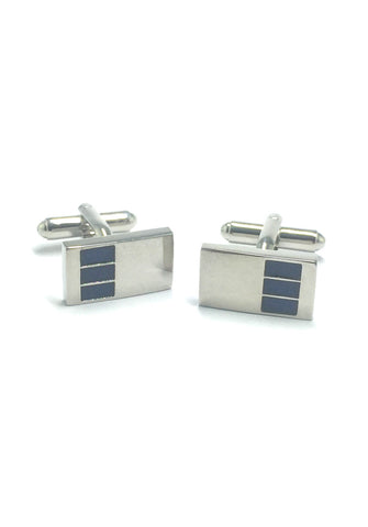 3 Rectangles Pattern Rectangular Cufflinks