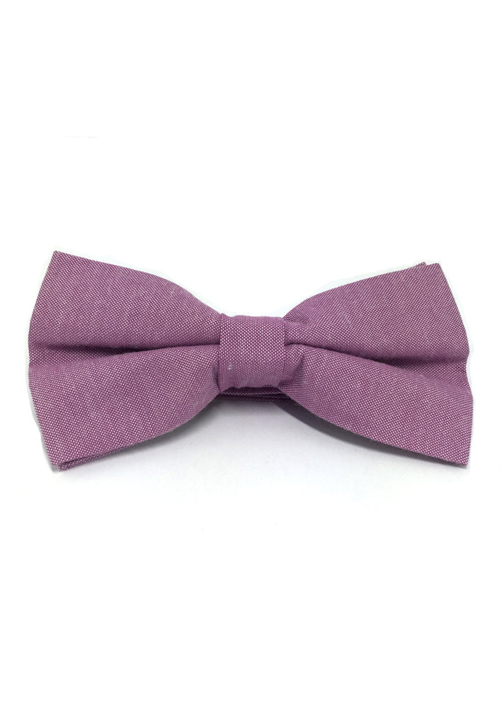 Lucid Series Peony Purple Polyester Fabric Bow Tie