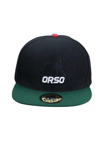 Orso Limited Edition Green Visor Black Cotton Cap