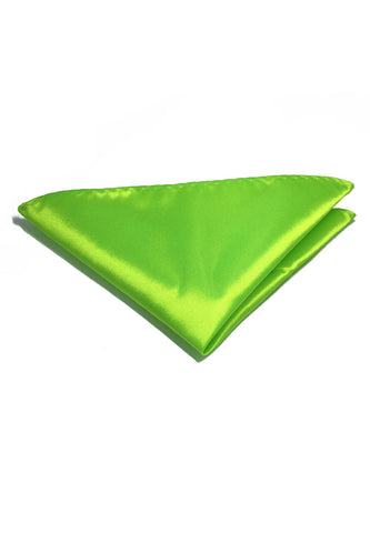 Lustrous Series Lime Green Polyester Pocket Square