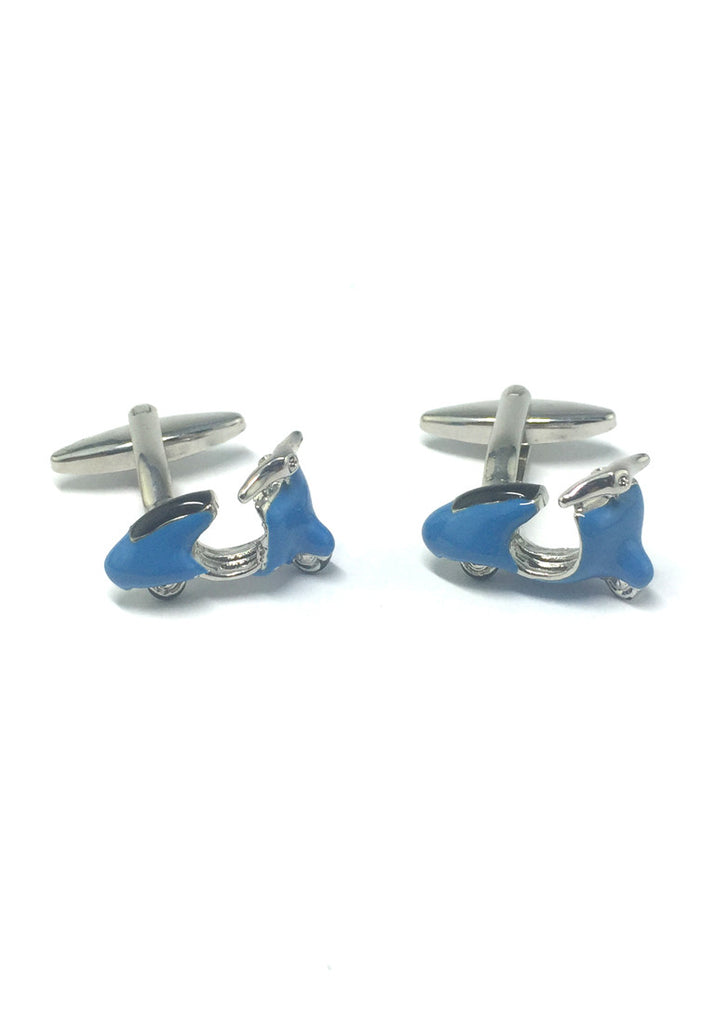 Blue Vintage Scooter Cufflinks