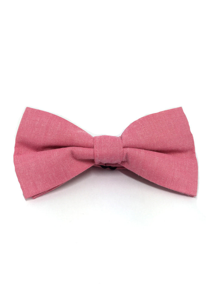 Lucid Series Pink Polyester Fabric Bow Tie