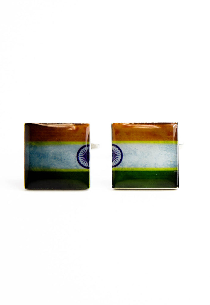 India, Indian Flag Cufflinks