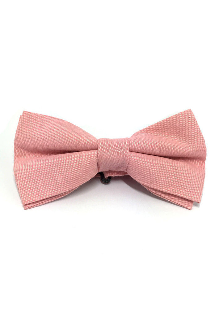 Lucid Series Pale Pink Polyester Fabric Bow Tie