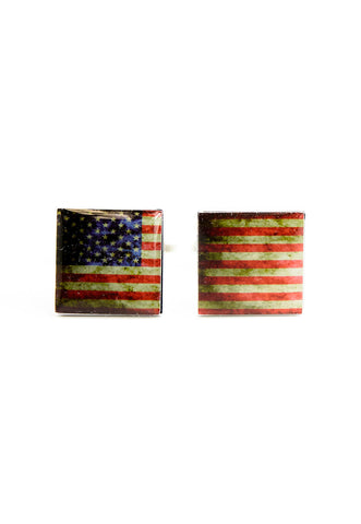 USA - American Flag Cufflinks