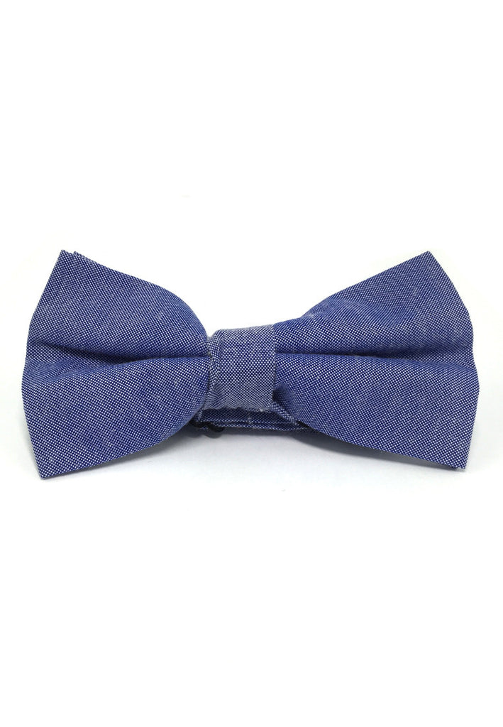 Lucid Series Bright Blue Polyester Fabric Bow Tie