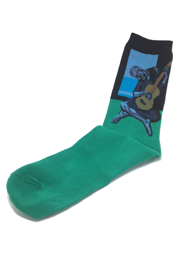 Illustrious Series Green The Old Man with Guitar Socks