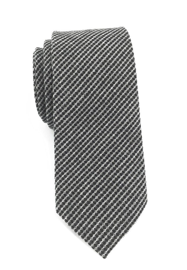 Goober Series Gunmetal Grey Cotton Tie